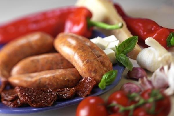 chilli-sausages